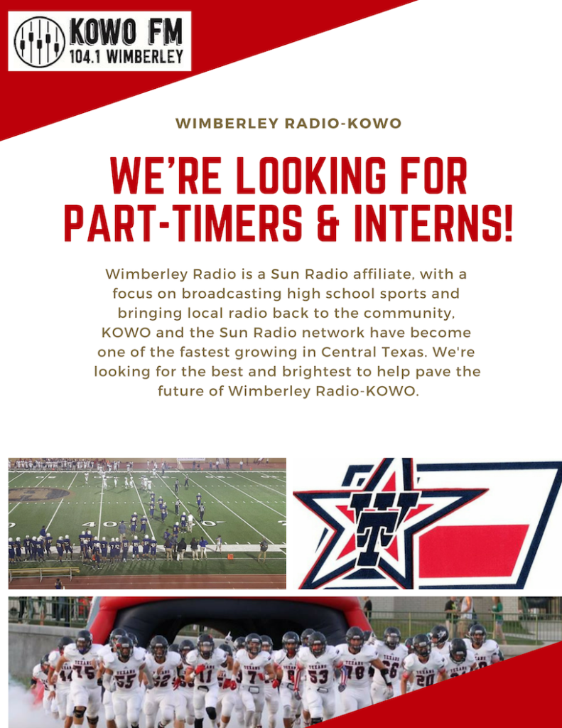 Careers – Wimberley Texan Radio – KOWO 104 1FM
